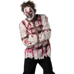 Scary Killer Clown Crazy Straight Jacket Halloween Costume