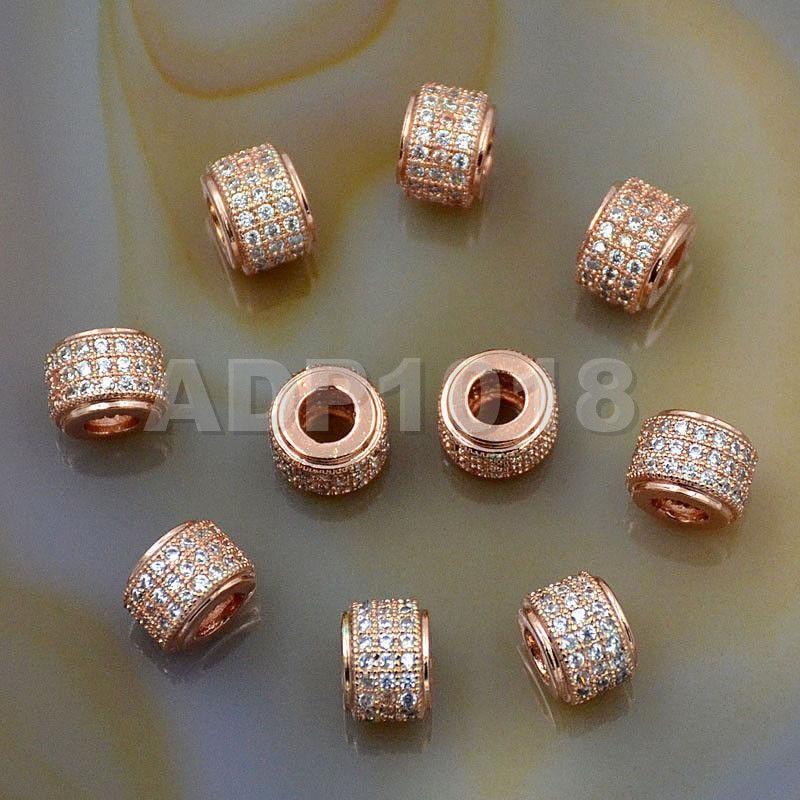 6mm-10mm Silver Shamballa Diamante Beads Rhinestone Rondelle Spacer Jewellery