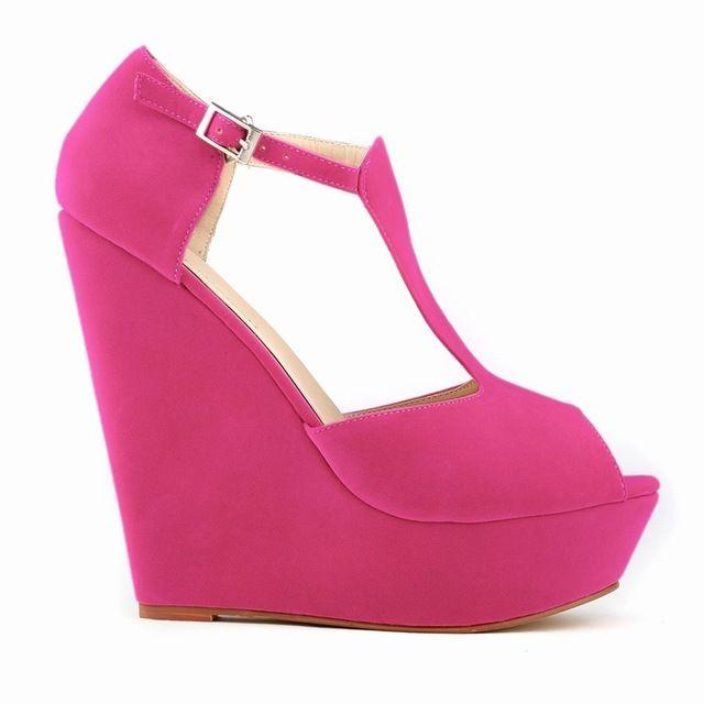 WOMENS LADIES PLATFORM PEEP TOE WEDGES EXCLUSIVE HIGH HEELS SHOES US SIZE 4.5-10 sapatos femininos women wedge shoes 391-1