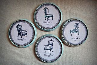 Cute French coasters DIY