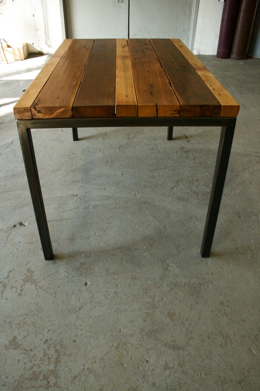 Table De Salon Fer Et Bois Reclaimed Wood Table Diy Table Bois Mobilier De Salon Bois