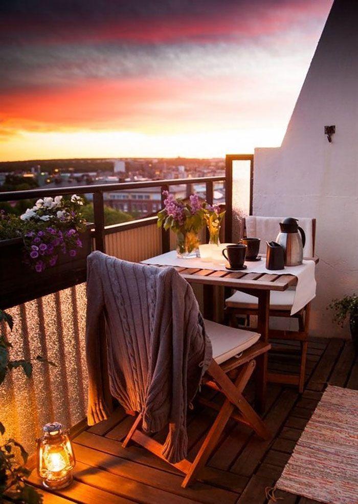 groß 50 + gemütliche Balkon Deko-Ideen #balkondeko