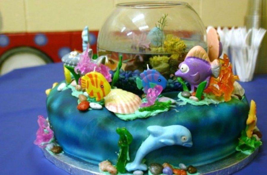 Brilliant Aquarium Cake Aquarium Cake Cake Childrens Birthday Cakes Funny Birthday Cards Online Necthendildamsfinfo