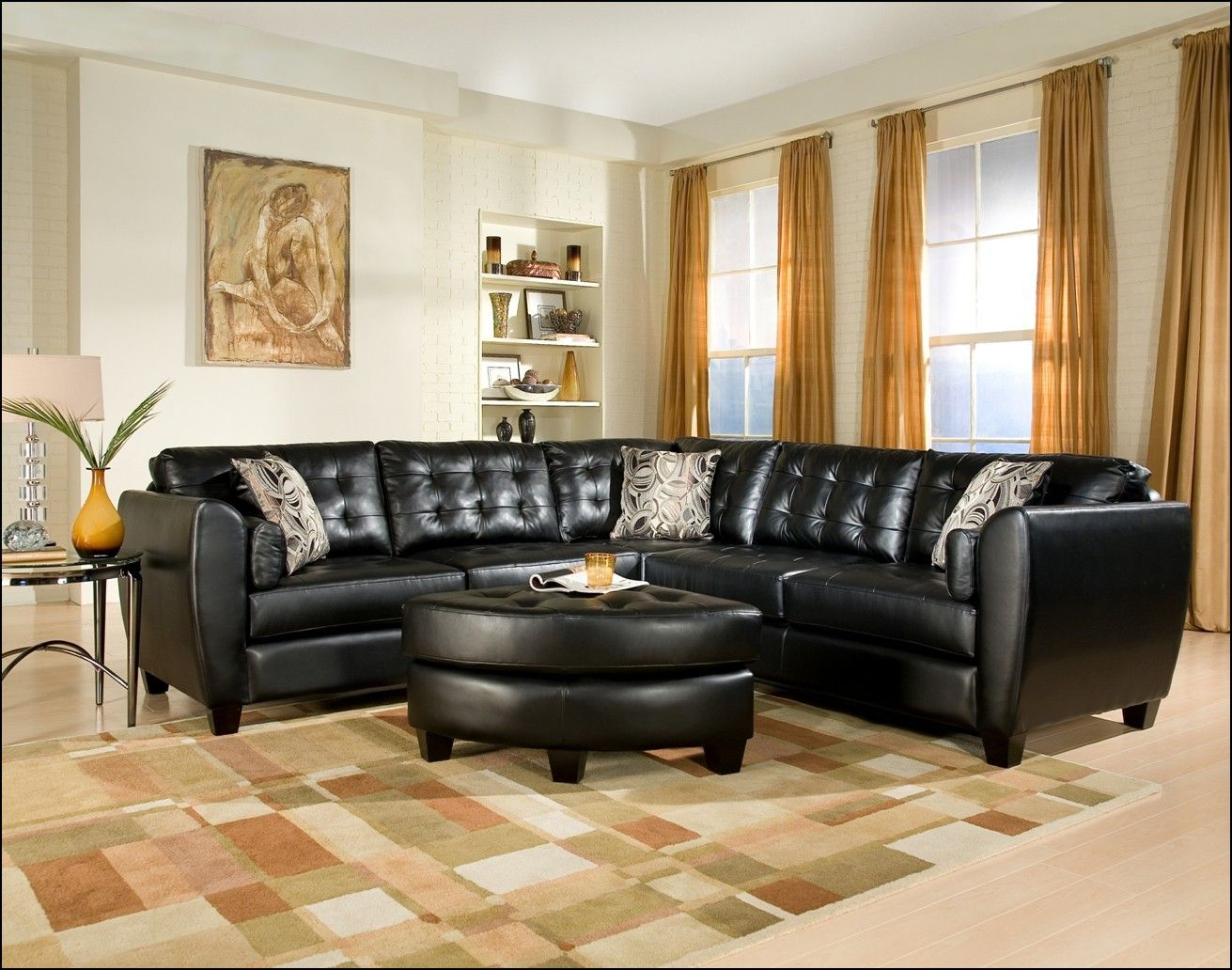 Curtains To Go With Black Leather Sofa Leather Living Room