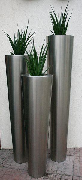 Wysokie Stalowe Eleganckie Donice Narnya Planter Pots Home Decor Decor