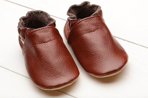 480be1701e3cd Brown Baby Shoes Leather, Baby Moccasins, Soft Sole Baby Shoes ...