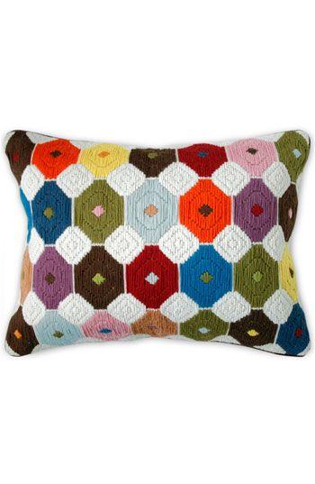 Jonathan Adler Chamomile Bargello Pillow Cojines Almohada Almohadones