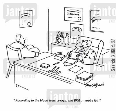 EKG+Jokes ekg cartoon humor: 'According to the blood tests