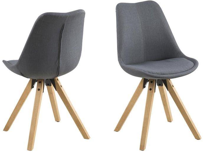Krzesło tapicerowane Dima I ciemnoszare Actona Razzo Pinterest