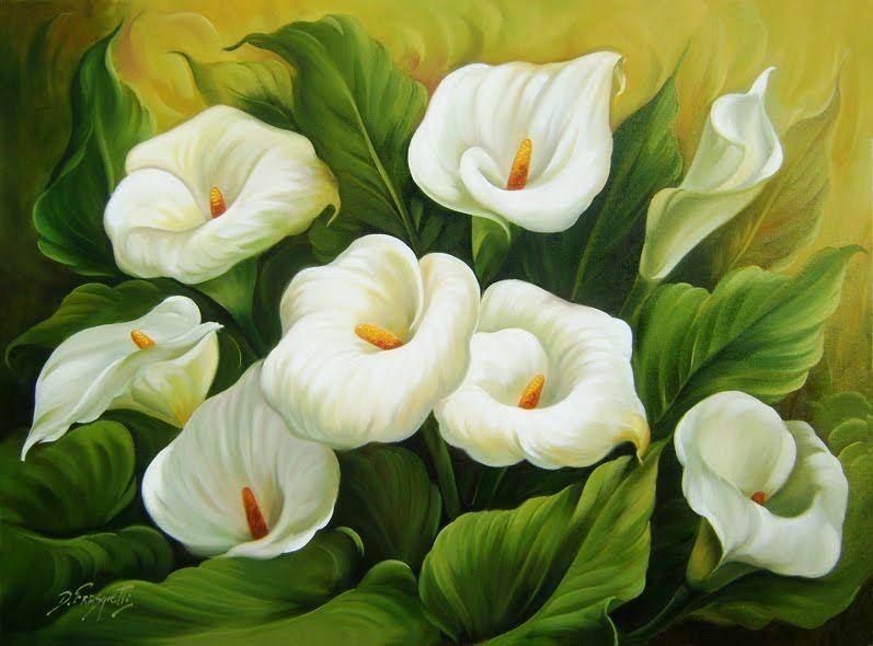 Mestres Da Pintura Douglas Frasquetti Flores Pintadas