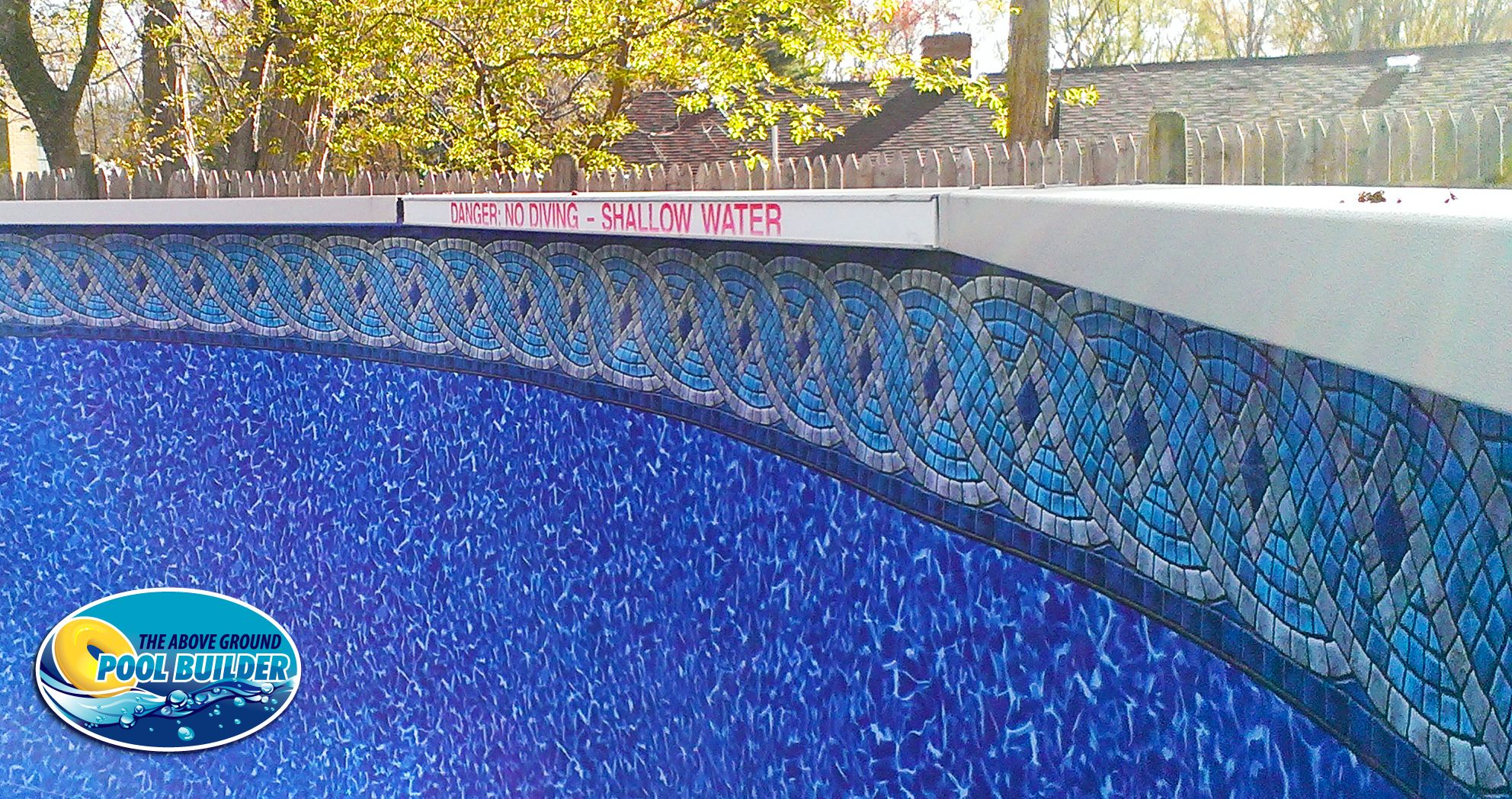Close up look at the princeton tile beaded liner this one for Swimming pool liners