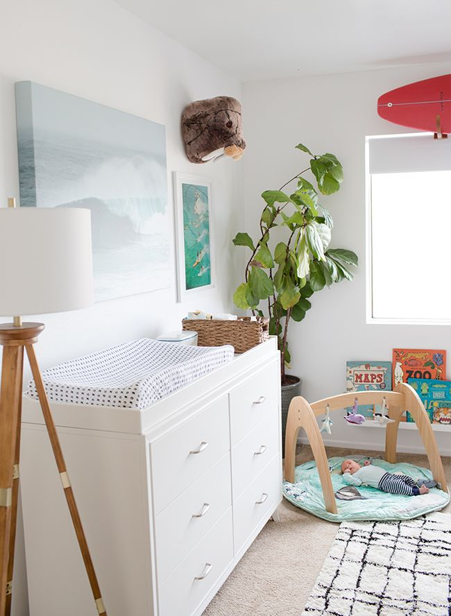 Ocean Surf Inspired Nursery Inspired By This Baby Boy