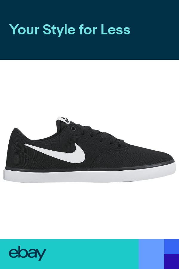 Nike Sb Check Solar Cnvs Men S Shoes Black White 843896 001 Fast Shipping Mens Shoes Black Nike Nike Sb