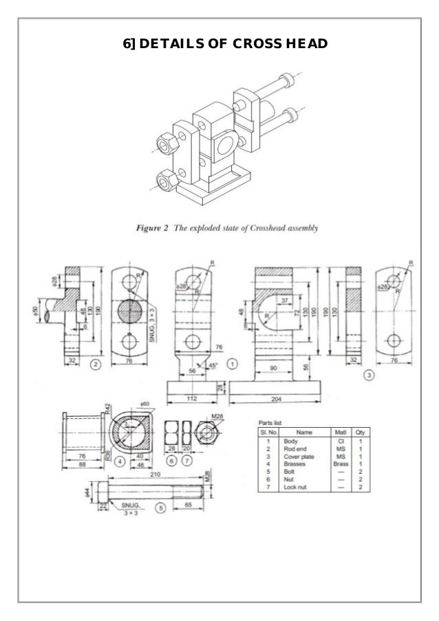 Assembly And Details Machine Drawing Pdf In 2019 Drawing