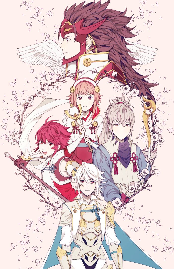 Fire Emblem Fates - Team Hoshido Corrin, Ryoma, Hinoka, Takumi, Sakura