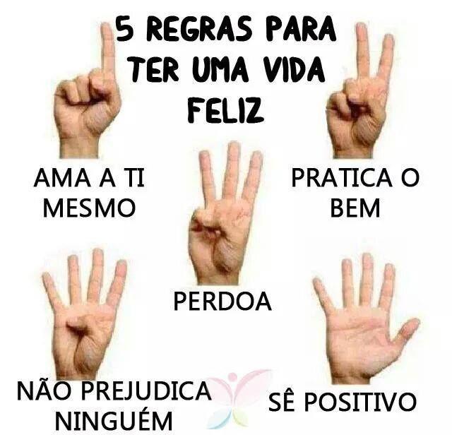 Põe em Prática estas Regras...e...Serás FELIZ  #alegria, #Felicidade, #Feliz, #Positivo, #JorgeParracho