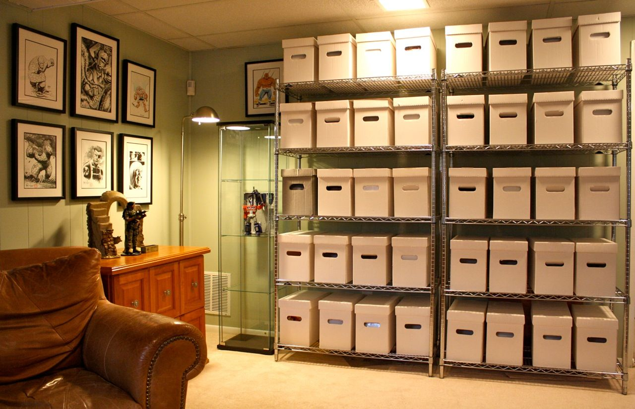 Collection dream home ideas pinterest comic book storage and storage - Comic book display shelves ...
