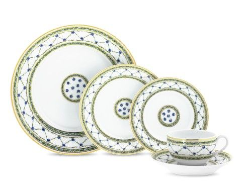 Raynaud Allee Royale 5-Piece Place Setting - Don't actually want them or even like them. Just wish I could drop $455 and still be eating alone.