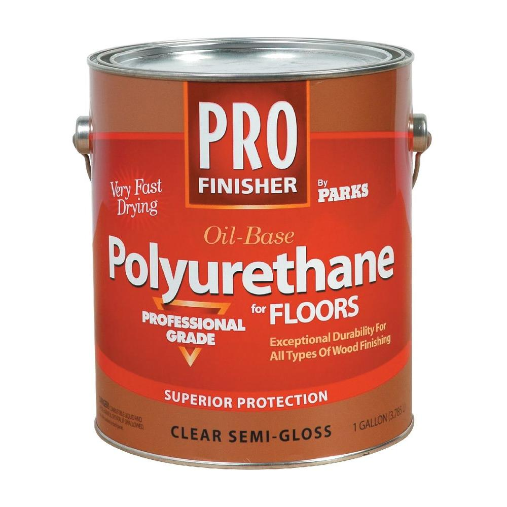 Rust Oleum Parks Pro Finisher 1 Gal Clear Semi Gloss Oil Based Polyurethane For Floors 4 Pack 130533 Polyurethane Floors Flooring Teak Oil