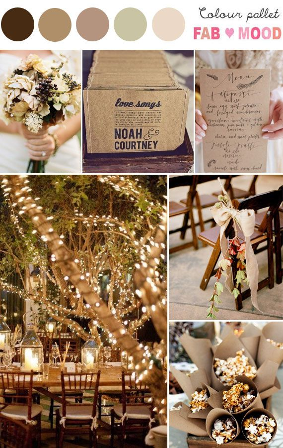 Autumn Wedding Board Beautiful Soft Colours For An Colors No Orange