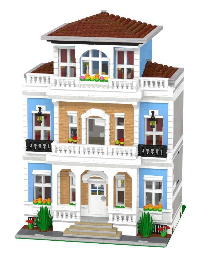 Lego Custom Modular Mansion Instructions Only 10185 10218 10224