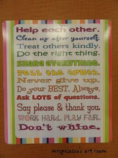 Love this classroom expectation printable...maybe for home, too!
