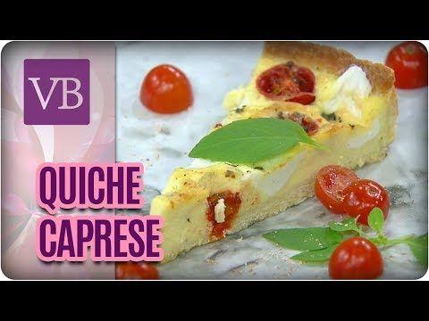 (260) Receita de Quiche Caprese sem Glúten - Você Bonita (14/07/17) - YouTube