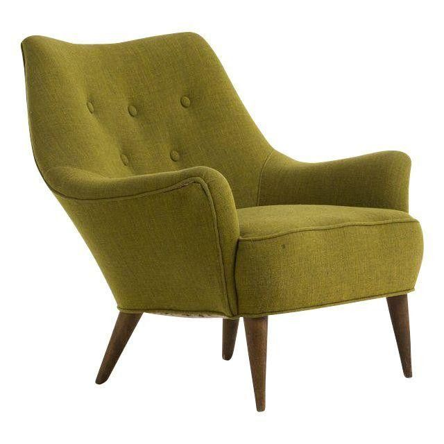 Vintage Green Heywood Wakefield Bucket Chair | Bucket chairs ...