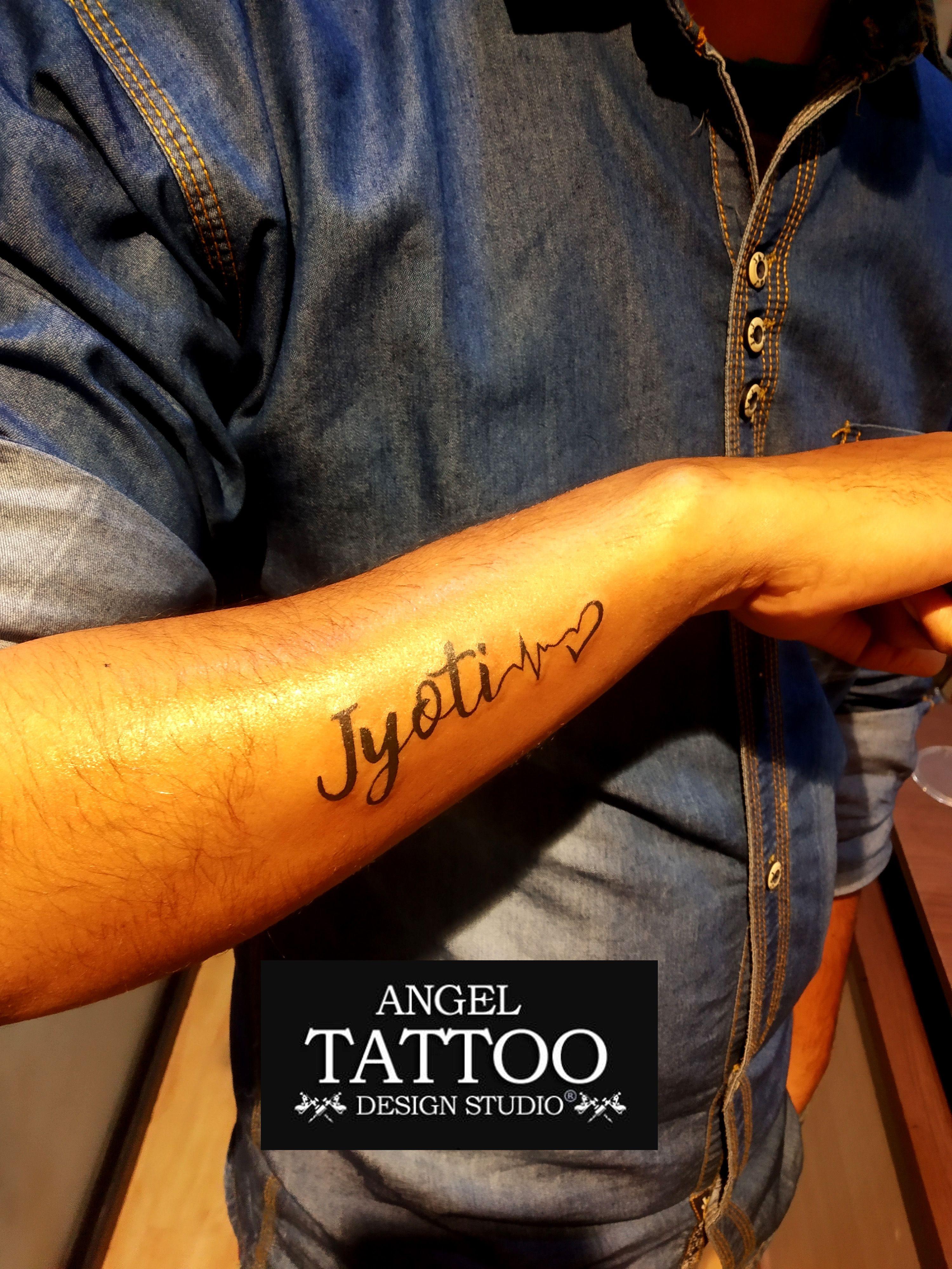 9473a3fc1 Jyoti name tattoo made at Gurgaon shop; call 8826602967 for appointment  #jyoti #jyotitattoo #jyotinametattoo #tattoogurgaon