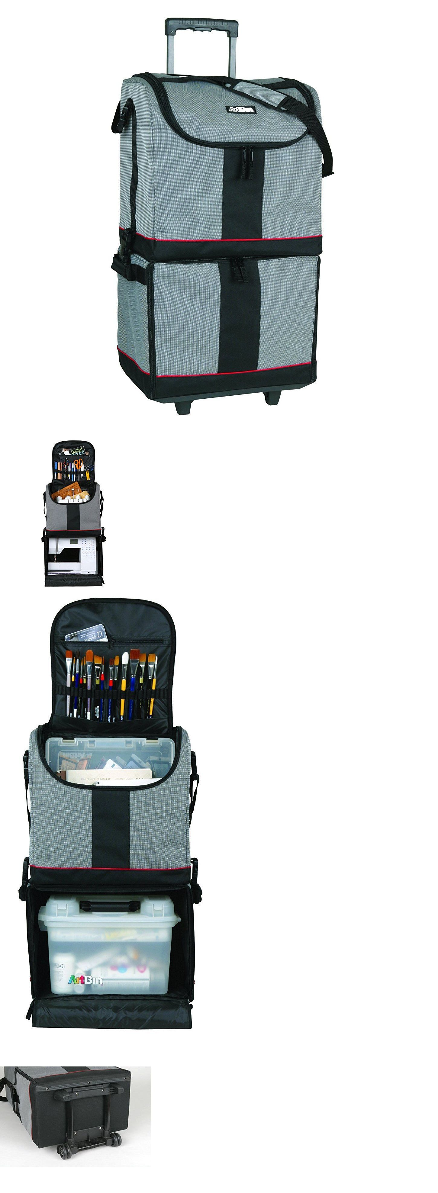 4053b5331b Sewing Boxes and Storage 83965  Sewing Kit Mobile Storage Bag Project  Organizer Trolley Rolling Art Craft Tote -  BUY IT NOW ONLY   105.99 on  eBay!