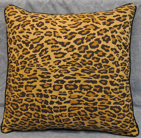 Pillow, Ralph Lauren Aragon Leopard Animal Print 20""