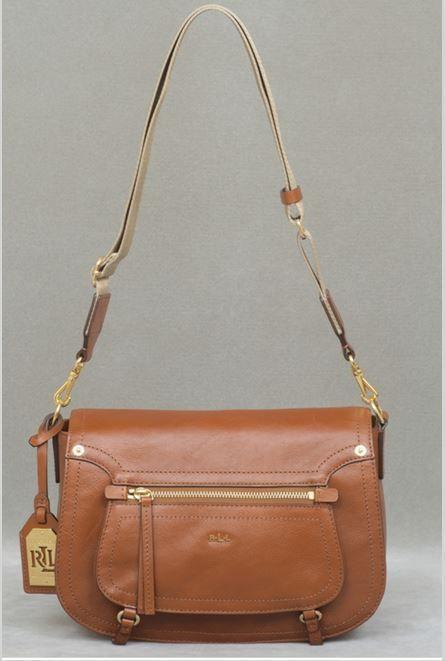 5c2f326f7d70 RALPH LAUREN Humphrey Crossbody Brown Tan Genuine Leather Shoulder Bag Purse  NWT  RalphLauren  MessengerCrossBody