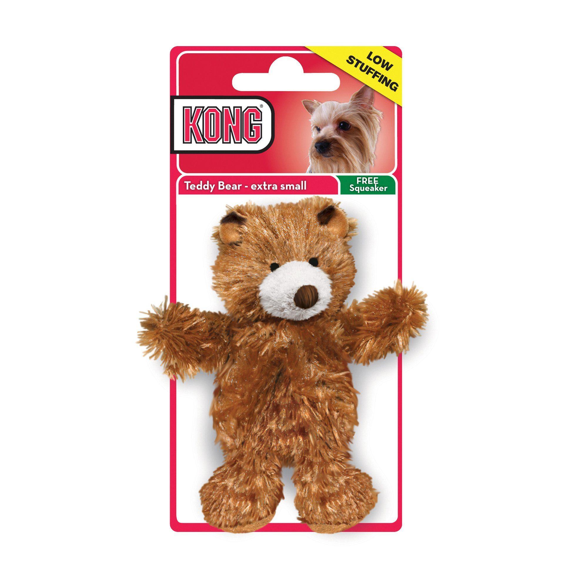 Kong Teddy Bear Dog Toy X Small Brown Dog Toys Teddy Bear Dog