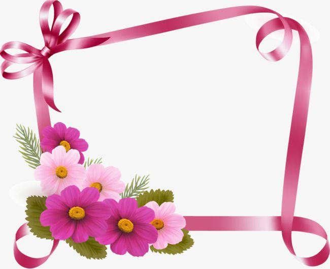 flor de vetor de fronteira de fita  fita de borda de flores  flores vector ribbon png e vector pink ribbon clip art cancer awareness pink ribbon clip art free