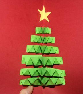 Biglietti Buon Natale Bambini.Biglietto Natalizio Pop Up Con Albero Di Natale Anche I Bambini Piu