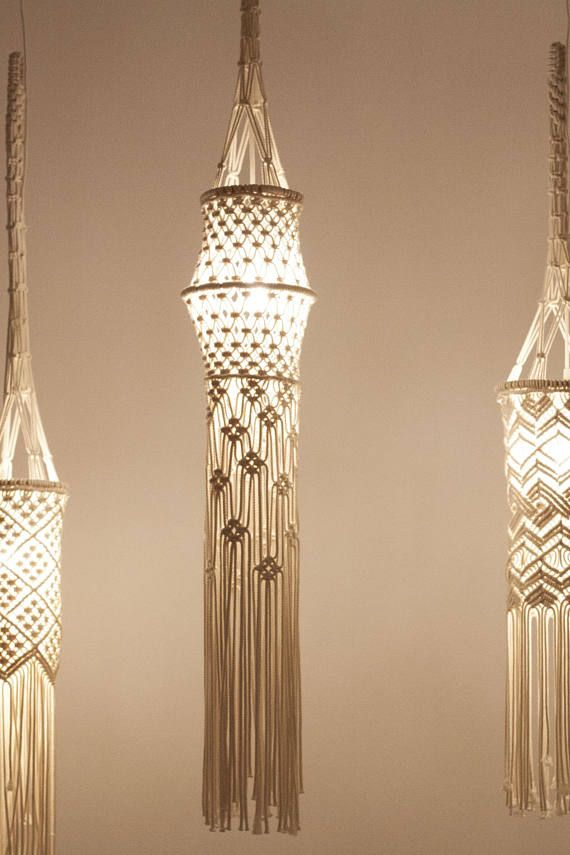 Simple Macrame Lamp Shade