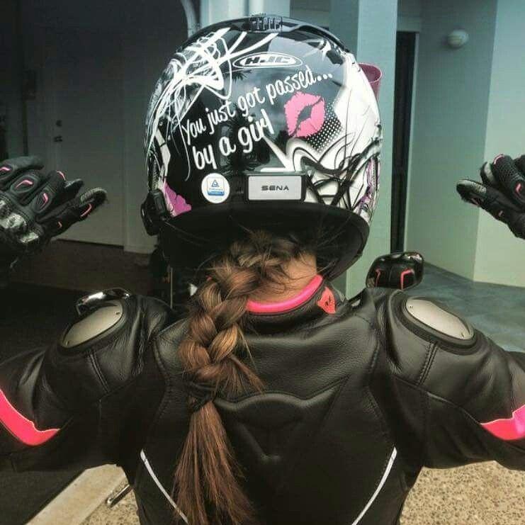 Love It Helmet Decal Passed By A Girl Wwwetsycomshop - Pink motorcycle helmet decals