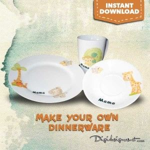 Create Your Own Dinnerware free tutorial & Make Your Own Dinnerware | Dinnerware