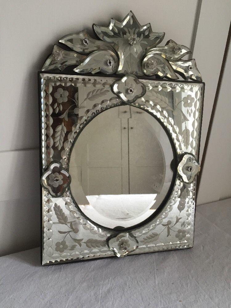Venezianischer Wandspiegel Spiegel Facettenschliff Venezianisch Glas ...