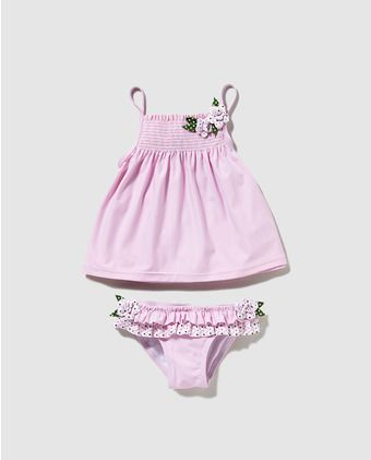 Culetín de bebé niña B con B de rayas con camiseta 5540f88b570