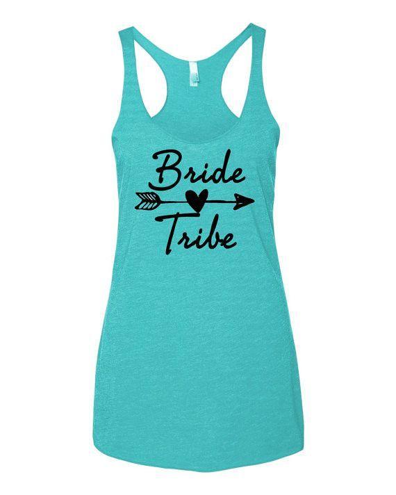 9e25b716 Bride Tribe Teal Bachelorette Tank Tops in 2019 | Bridesmaid dresses ...