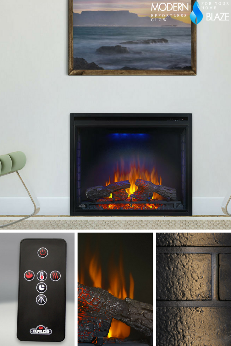 The Napoleon Ascent 33 Electric Firebox Imitates The Look Of A Traditional Masonry Fireplace But With All The Conve Electric Firebox Fireplace Inserts Firebox