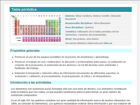 Proyecto para trabajar la tabla peridica screenshot de secuencia proyecto para trabajar la tabla peridica screenshot de secuencia didctica 15077 tabla peridica urtaz Images