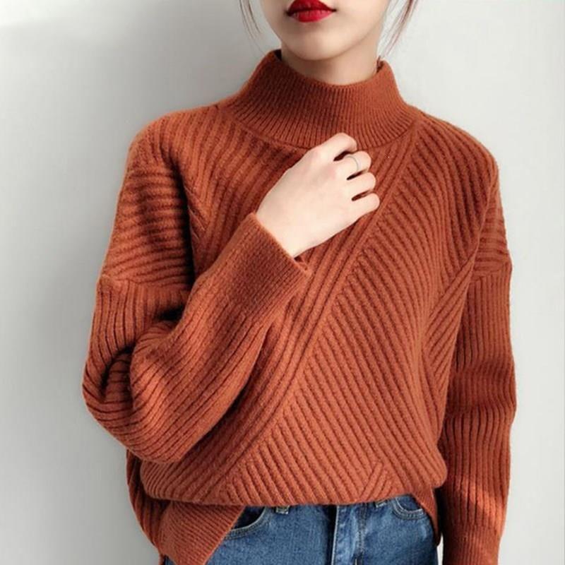 2019 Winter Women Korean Casual Turtleneck Jumper Sweater