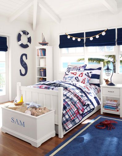nautical toddler room - like the lamp and the white walls. Lamp is ...