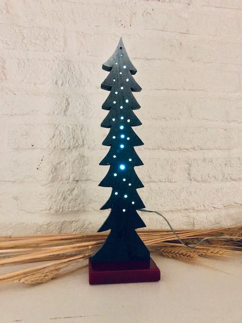 This Is A 12 Inch Christmas Tree With Lights On The Inside Of The Tree So The Wires Are Hidden Silver Christmas Tree Large Christmas Tree Christmas Decorations