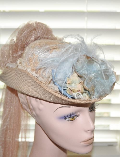 Women Victorian Edwardian Downton Abbey French Touring Tea Party Train Hat 16051 #ElsieMassey #VictorainEdwardian