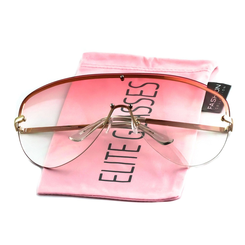 f85033aa360 Elite XXXL OVERSIZED Huge Big MASK SHIELD Half Face Owen Large Sunglasses ( Black-Black