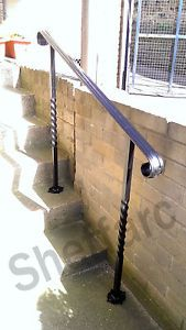 Adjustable - ORNAMENTAL Wrought Iron, Steel Handrail ...