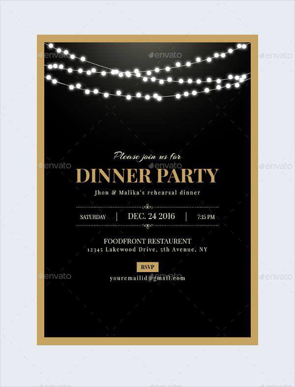 Free Dinner Party Invitation Template Beautiful 47 Dinner Invitation Templates Psd Ai Party Invite Template Dinner Party Invitations Birthday Dinner Invitation